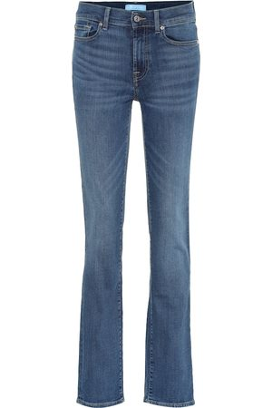 7 for all Mankind High-Rise Straight Jeans B(AIR)