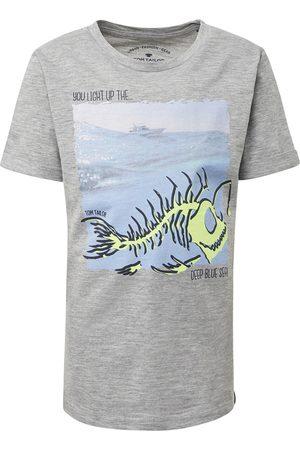 Tom Tailor TOM TAILOR Jungen T-Shirt mit Brust-Print, , unifarben mit Print, Gr.104/110