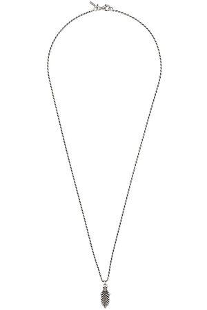 EMANUELE BICOCCHI Halskette mit Totenkopf und Feder