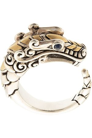 John Hardy Damen Ringe - 18kt 'Legends Naga' Gelbgold-und Sterlingsilberring