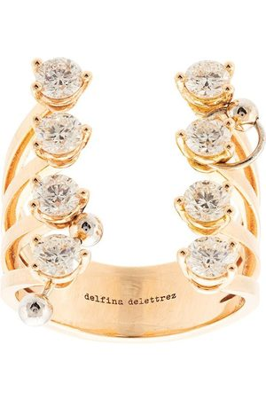 DELFINA DELETTREZ 18kt Gelbgoldring mit Diamanten