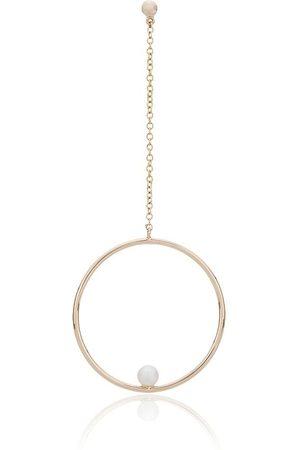 Anissa Kermiche 14kt 'Rondeur' Goldhängeohrring mit Perle