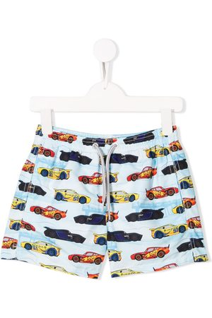MC2 SAINT BARTH Shorts mit Rennwagen-Print