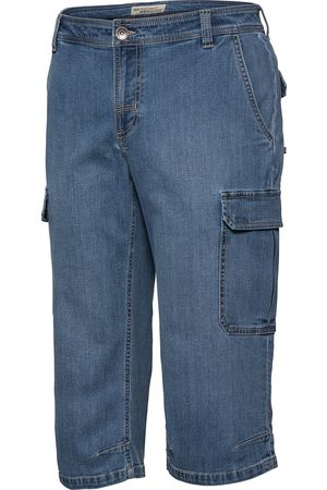 HENSON&HENSON Herren Cargo-Capri-Jeans
