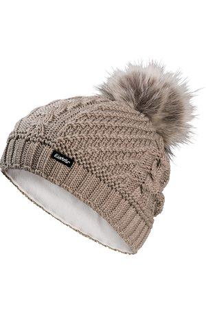 Eisbär Damen Mützen - Damen Strickmütze mit Fellpompon