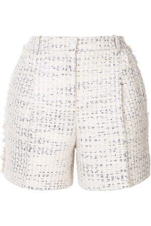 Zuhair Murad Tweed-Shorts in Metallic-Optik