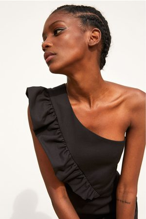 Zara Asymmetrisches overall-kleid