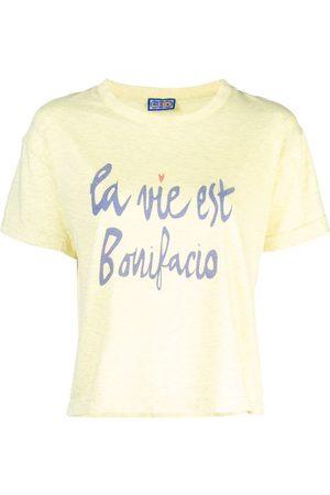 "LHD T-Shirt mit ""La vie est Bonifacio""-Print"