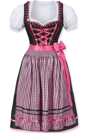 Edelnice Damen Dirndl - Midi Dirndl Geo pink