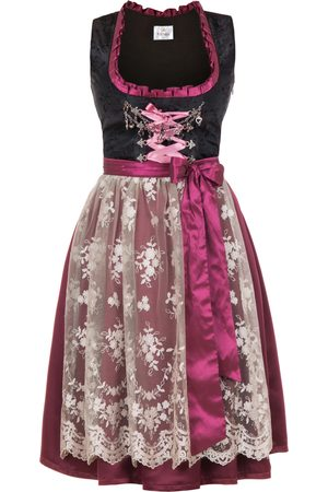Edelnice Midi Dirndl Made in Germany bordeaux pink