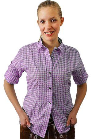Edelnice Damen Trachtenhemd lila kariert