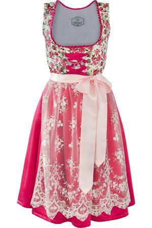 Edelnice Made in Germany Dirndl pink Rosen
