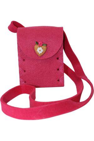 Edelnice Damen Dirndl - Mini Dirndltasche Filz pink Herz