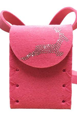 Edelnice Damen Dirndl - Mini Dirndltasche Filz pink Hirsch