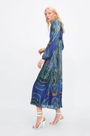 Zara Kleid mit laméfäden – limited edition