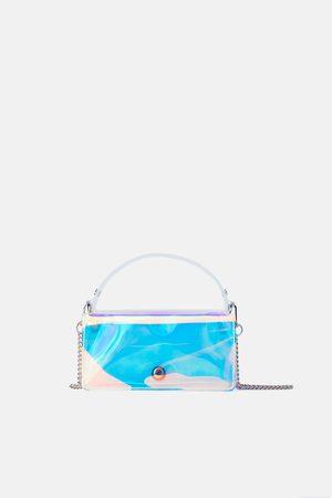 Zara Kleine citytasche in changierender optik