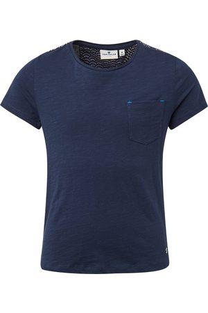 Tom Tailor TOM TAILOR Mädchen T-Shirt mit Brusttasche, , zweifarbig, Gr.128