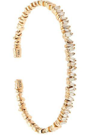 Suzanne Kalan Damen Armbänder - 18kt 'Fireworks Flexible Diamond Baguette' Rotgoldarmspange