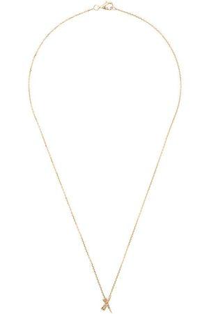 Daou 18kt 'Kiss' Gelbgoldhalskette mit Diamanten