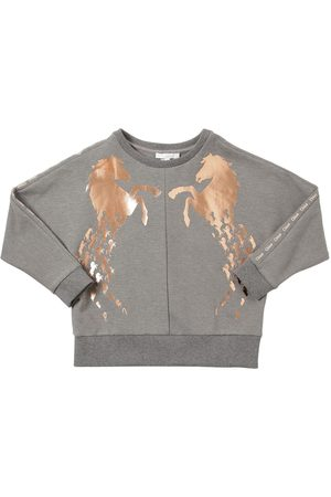 Chloé Horse Print Cotton Blend Sweatshirt