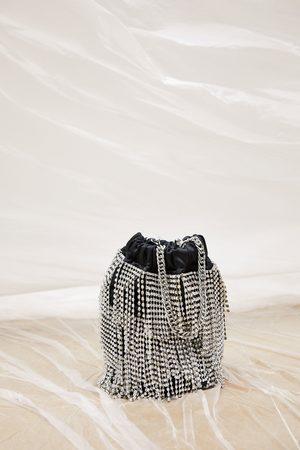 Zara Beuteltasche mit schmucksteinen