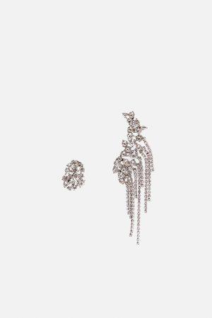 Zara Set ohrring und earcuff mit strass