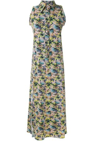 AMIR SLAMA Damen Freizeitkleider - Ärmelloses Kleid mit Blumenmuster
