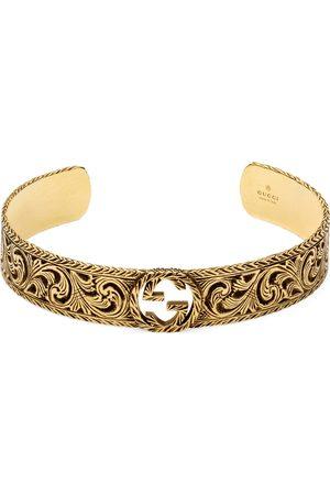 Gucci Herren Armbänder - Armspange aus Gelbgold mit GG