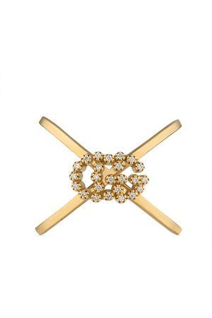 Gucci GG Running Ring in X-Form mit Diamanten