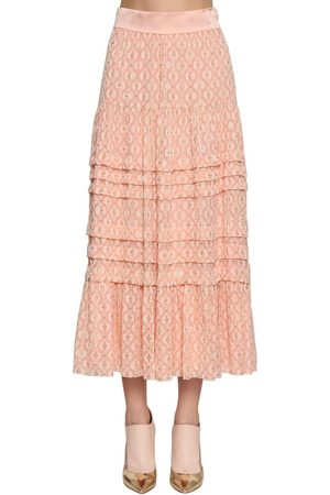 TEMPERLEY LONDON Midirock Aus Seidenchiffon Mit Stickerei