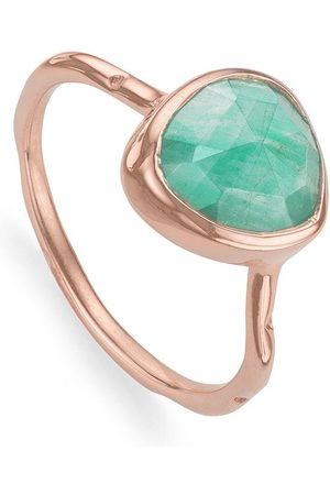 Monica Vinader RP Siren' Ring mit Amazonit