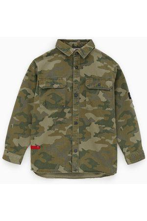 Zara Oberhemd mit camouflagemuster