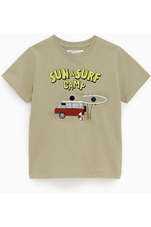 Zara T-shirt mit surfmotiv
