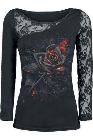 Spiral Burnt Rose Langarmshirt