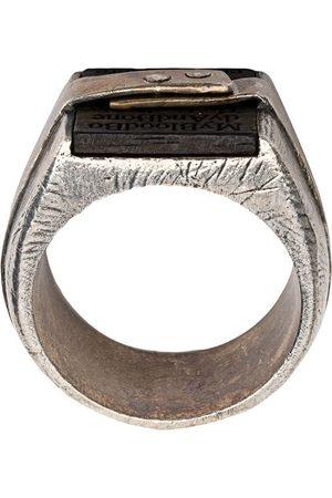 TOBIAS WISTISEN Sterlingsilber-Ring mit Schriftzug