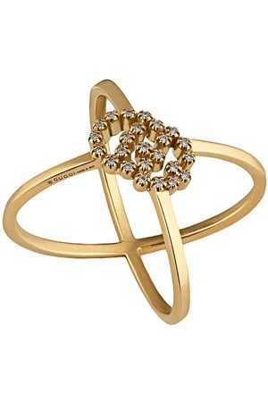 Gucci GG Running' Ring mit Diamanten