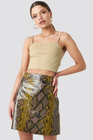 NA-KD Snake Printed A Line Mini Skirt - Multicolor