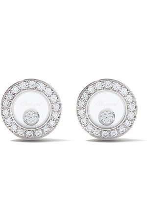 Chopard 18kt 'Happy Diamonds Icons' Ohrstecker aus Weiß