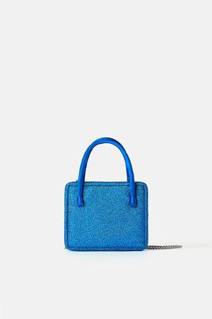 Zara Kleine glitzer-umhängetasche – blue collection