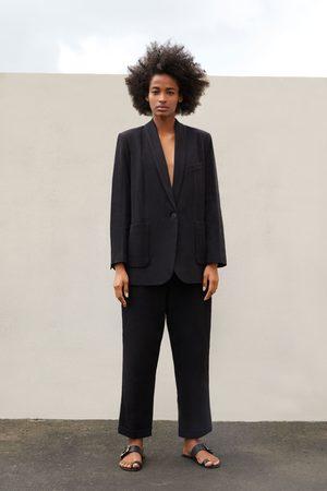Zara Flache pantolette aus leder mit schildpatt-schnalle