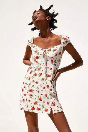 Zara Damen Kleider - Kleid mit rosenprint