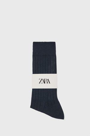 Zara Herren Socken & Strümpfe - Socke aus mercerisierter baumwolle mit rippenmuster premium