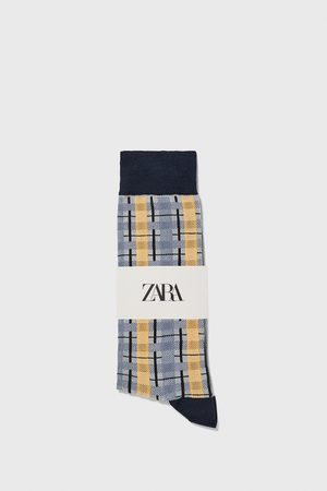 Zara Check jacquard socks