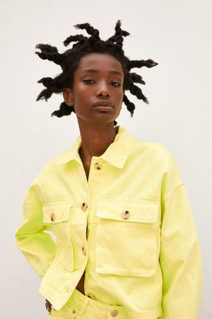 Zara Damen Blusen - Oberhemd mit taschen