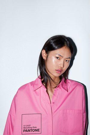 Zara Damen Blusen - Oversize-hemd aus popelin