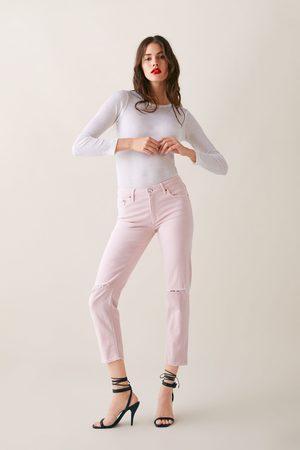 Zara Damen Baggy & Boyfriend - Jeans zw premium slim boyfriend soft pink