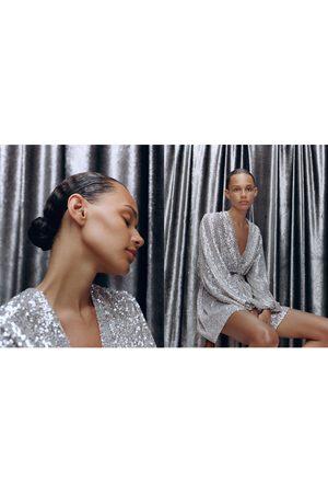Zara Mantelkleid mit pailletten