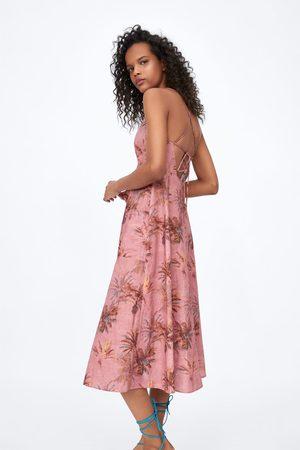 Zara Kleid mit palmenmuster