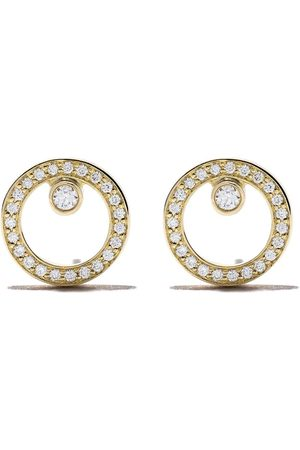 Georg Jensen Damen Ohrringe - 18kt yellow Halo brilliant cut diamond earrings