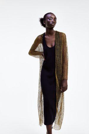 Zara Lange strickjacke aus netzstoff limited edition